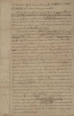 Jefferson's Rough Draft