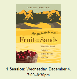 "Arnold Arboretum event titled ""Fruit from the Sands"" on December 4th, 2019"