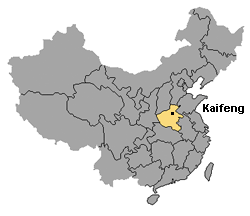 Kaifeng map