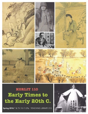 Korean Literature 110 - Early Times to the Early 20th Century