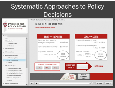 Systematic Approaches to Policy Decisions Digital Unit