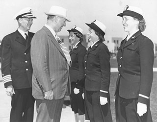 Knox with Naval Officers
