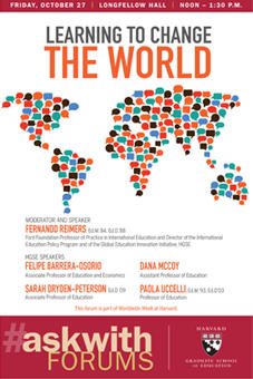 Leading to Change the World Askwith Forum poster
