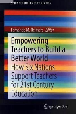 multicolor cover of the book: Empowering teachers to build a better world