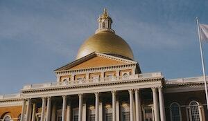Gold dome atop the Massachusetts State House