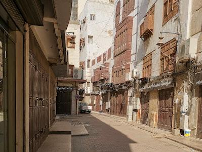 Empty street in Saudi Arabia