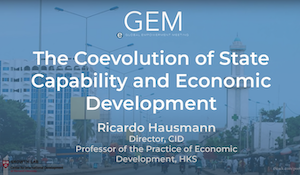 "blue background with text ""The Coevolution of State Capability"""