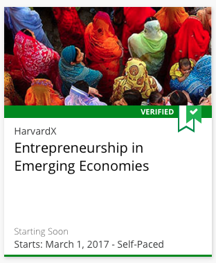 Course image for Entrepreneurship in Emerging Economies