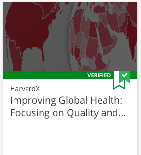 Improving Global Health course tile