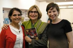 Jacqueline Bhabha (center) with researchers Margareta Matache and Elizabeth Newnham. All event photos by Angela Murray, FXB Cent