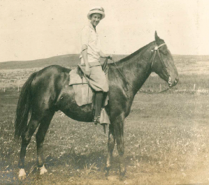 Image of Linda James Benitt on a horse