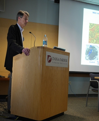 HSCI Executive Director, Brock Reeve, welcomes scientists to HSCI's MSC Colloquium.