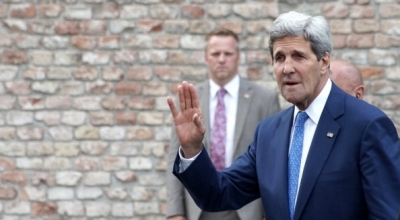Secretary of State John Kerry in Vienna for P5+1 talks