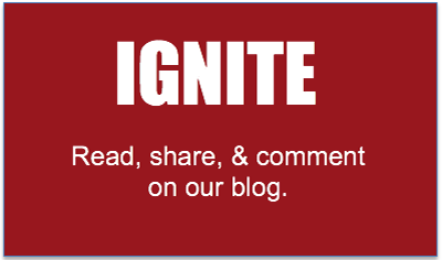 Ignite button: Read share and comment on our blog The Public Square