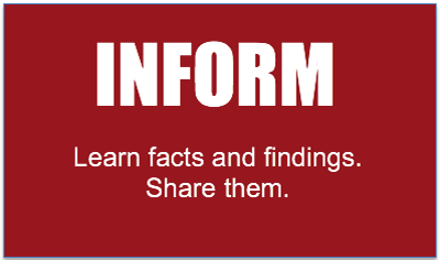 Inform Button: Learn facts and findings. Share them.