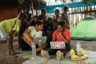 Dr. Christopher Golden and Harvard undergraduates in Madagascar conducting Planetary Health research