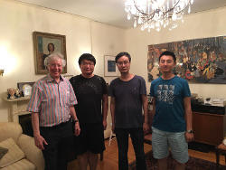 Group members with Bohan Fang after Bohan Fang's seminar in mirror symmetry.