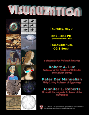 OCOW4 poster ('Visualization' with Robert A. Lue, Peter Der Manuelian, Jennifer L. Roberts. 7 May 2015.)