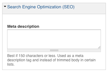 page level SEO area