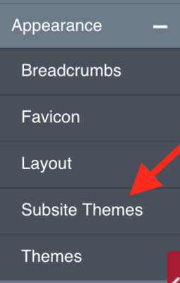 subsite themes