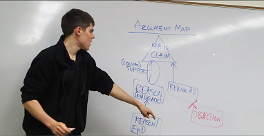 nate otey teaches argument mapping