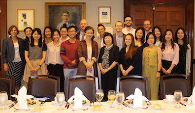 Group photo of Julia Chang Bloch with RSEA students and faculty