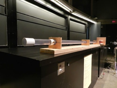 Vacuum Cannon on the lecture bench
