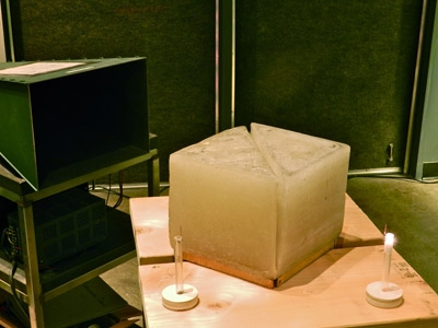microwaves tunnel through to second prism