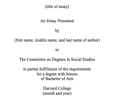 degree essay format