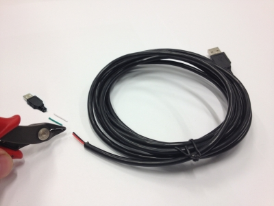 USB cable cut