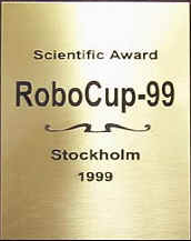 1999 Scientific Challenge Award, RoboCup