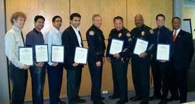 2009 Los Angeles World Airports police special commendations from the city of Los Angeles