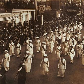 suffrage marchers