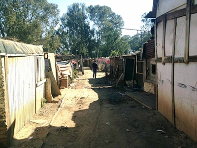 A Makause informal settlement in South Africa.