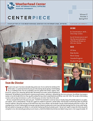 Image of spring 2013 Centerpiece cover