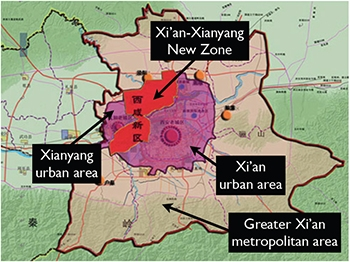 State-led Urban Development: The Xi'an- Xianyang New Zone.