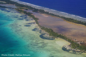 Image of Kiribati coast from the air