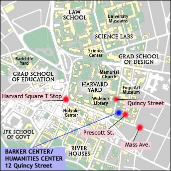 Barker Center map