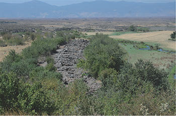 The northern section of the casemate wall, seen from the Acropolis