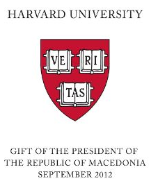 Gift of the President of the Republic of Macedonia