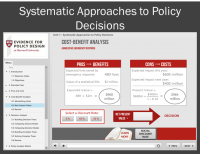 Systematic Approaches to Policy Decisions