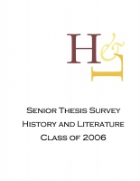 Senior thesis proposal
