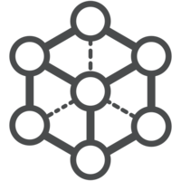 Coherence framework icon, graphical representation of a connected network