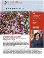 Image of Cover of Spring 2014 Centerpiece