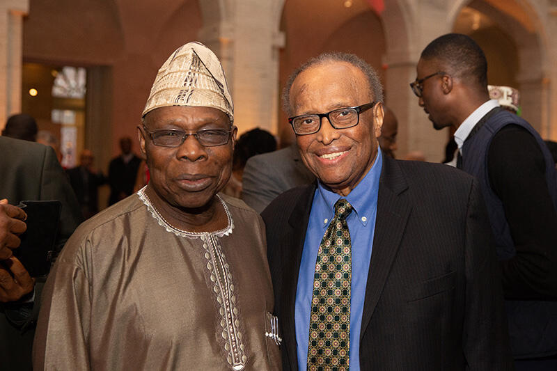 Walter Carrington and Olusegun Obasanjo
