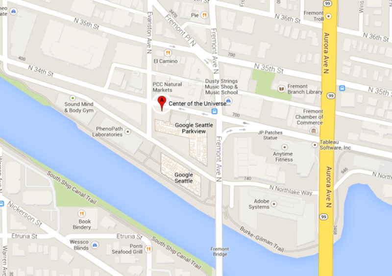 screenshot of google map showing venue location