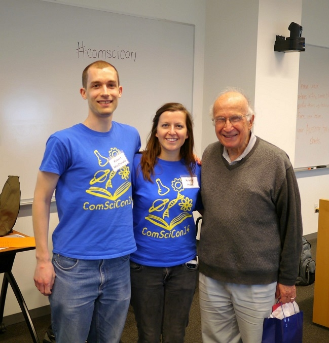 The organizers of ComSciCon-Cornell together with Roald Hoffman.