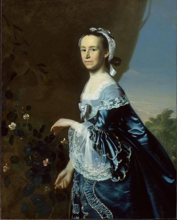 Portrait of Mercy Otis Warren by John Singleton Copley, ca. 1763