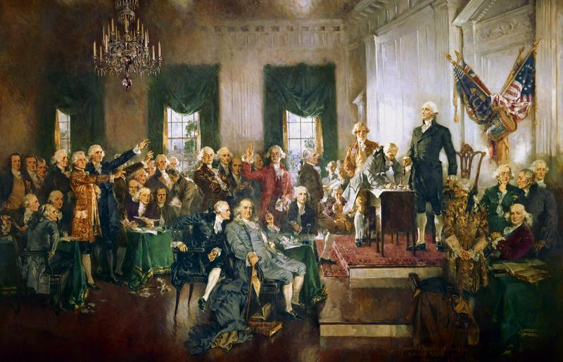 Scene at the Signing of the Constitution of the United States, Howard Chandler Christy