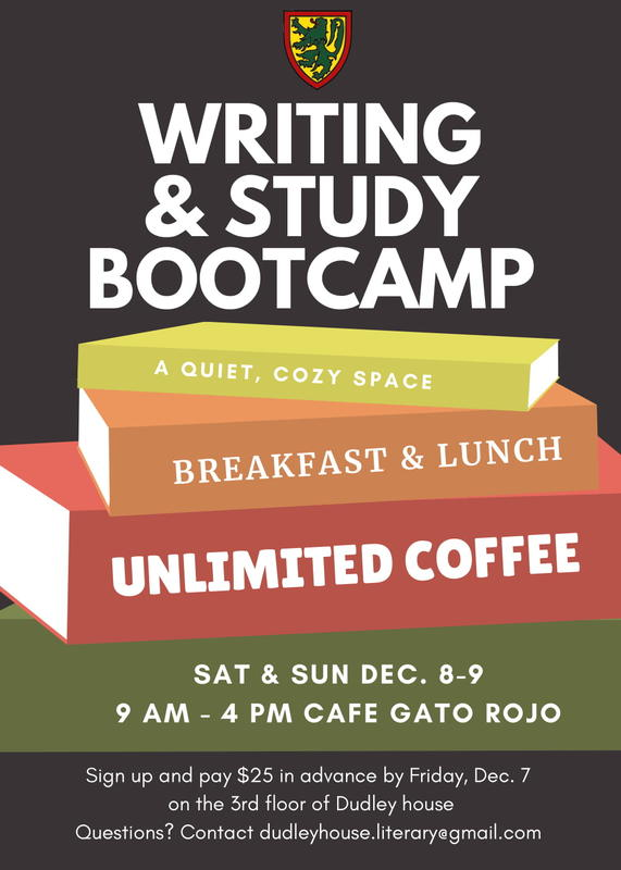 writing and study bootcamp dec 8 and 9